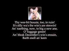 To a Mouse by Robert Burns with authentic pronounciation
