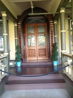 Front doors to the Winchester house
