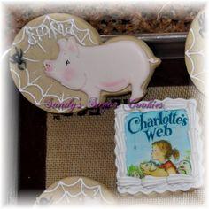 Charlotte/'s Webb Themed Custom Sugar Cookies FREE SHIPPING!