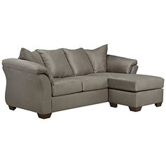 Signature Design by Ashley - Darcy Ultra Soft Upholstery Sofa Chaise, Mocha Sofa Upholstery, Upholstered Sofa, Chaise Sofa, Sectional Sofas, Fabric Sofa, Ashley Furniture Sofas, Fine Furniture, Furniture Stores, Ashley Sofa