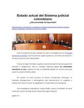 Estado Actual Del Sistema Judicial Colombiano