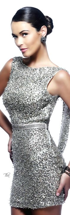 Fashion,Beauty,Landscape,Home Designe,Sexy Girls. Beauty And Fashion, Love Fashion, Silver Gown, Silver Sequin, Metallic, Bcbg, Glamour, Short Dresses, Formal Dresses