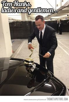 Tom Hanks attempts to turn his limo car into a Rolls Royce