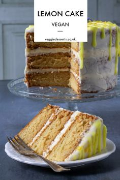 This vegan lemon cake recipe is very easy! Observe my step-by-step tutorial and shortly you may have a moist, fluffy, zingy layer cake to tuck into. It is not solely fairly however tastes so Vegan Treats, Vegan Foods, Bolo Vegan, Vegan Lemon Cake, Eggless Lemon Cake, Vanilla Cake, Lemon Cakes, Vegan Birthday Cake, Vegan Dessert Recipes