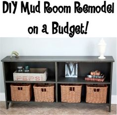 DIY Mud Room Remodel on a Budget! #mudrooms #decor For more information and tools to complete your DIY projects contact http://www.timerental.biz.