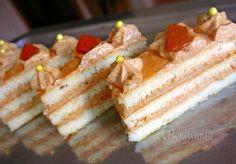 Bielkové rezy s karamelovým krémom Czech Recipes, Russian Recipes, Vanilla Cake, Cheesecake, Treats, Sweet, Polish, Sweet Like Candy, Candy