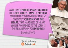 10 Quotes On Family From The Holy Fathers - Catholic Link Best Family Quotes, Best Quotes, Quote Family, Catholic Quotes, Catholic Prayers, Marriage And Family, Family Life, Pope Quotes, Reasons For Divorce