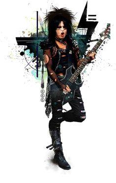 """sixx six by crazyfish 80s Hair Metal, Hair Metal Bands, Hair Band, Music Pics, Music Music, Music Videos, Motley Crue Nikki Sixx, Jim Morrison Movie, Glam Metal"