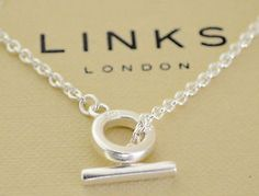 Low Cost New Links Of London 925 Silver T Bar Necklace Chain 16 Perfect For Charms