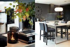 ElisabethsBorg.blogspot.com: Kontraster.... Dining Area, Kitchen Dining, Dining Room, Grey Kitchen Walls, Scandinavian Kitchen, Southern Homes, Interior Styling, Interior Design, Interior Architecture