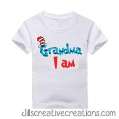 Dr Seuss T-Shirt, Grandma I am