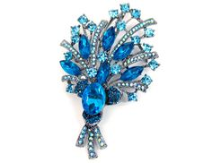 Blue Flower Bouquet Broach