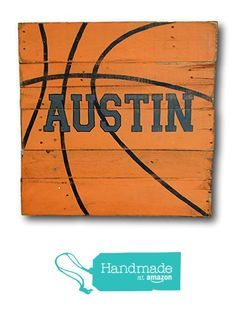 Basketball Sign / Wood Sports Sign / Boys Room Decor from Pallets and Paint