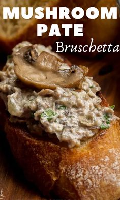 "This mushroom pate is the perfect vegan appetizer to make. Spread this ""meaty"" pate on a toasted baguette slice and enjoy - this pate recipe is a crowd pleaser! #appetizer #mushroom #mushroomrecipe #mushroompate #amazingrecipe"