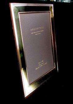 Argento SC Verona 24K Gold Plate 5 x 7 Picture Frame NEW #ArgentoSC