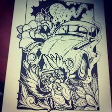 Afbeeldingsresultaat voor volkswagen tattoo sketch