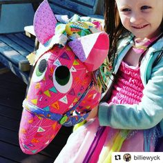 "So this may just be the cutest girl/hobby horse combination I have ever seen!!! Gorgeous horse made by @billiewyk using my ""Giddy-up"" pattern. I remember making these when my kiddos were about the same age 😍 #Repost @billiewyck ・・・ When your best friend in the whole world turns 5 💖🎂🐎🎁 . #bestfriend #happybirthday #uniquegift #handmademelbourne #handmadegift #giftsforgirls #mellyandme #giddyup #hobbyhorse #bff #yeehaw"