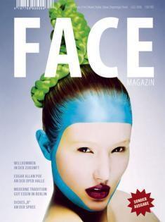 FACE Cover, Hair & Makeup: Jazz Mang, Photographer: Anita Bresser, Model: Lena, blue face, special effect, green hair, braided hair, www.basics-berlin.de