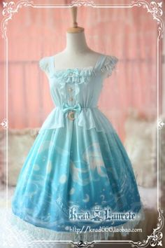 Krad Lanrete Lost In Sea Blue JSK « Lace Market: Lolita Fashion Sales and Auctions
