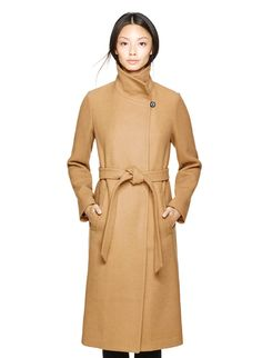 BABATON JACOBY COAT - A belted stunner in a luxe camel wool blend from Italy