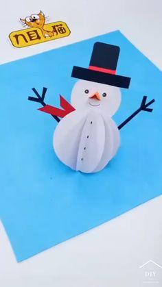 Winter Crafts For Kids, Paper Crafts For Kids, Craft Activities For Kids, Preschool Crafts, Diy Crafts For Gifts, Diy Crafts Videos, Holiday Crafts, Fun Crafts, Paper Crafts Origami