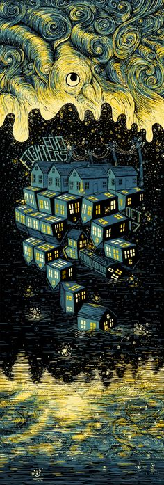 James Eads Foo Fighters Anaheim Poster & Print Release