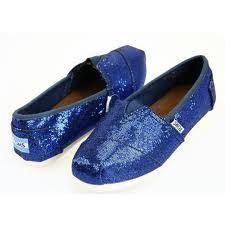 dark blue sparkly TOM's