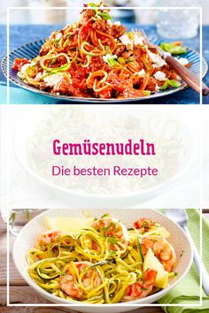 23 Gemüsenudeln-Rezepte Light, delicious, carb – crispy vegetable noodles from zucchini, carrot, sweet potato and Co. are a great alternative to classic pasta. Vegetable Pasta Recipes, Vegetable Noodles, Bastilla, Spaghetti Squash Recipes, Best Diets, Diy Food, Eating Habits, Zucchini, Yummy Food