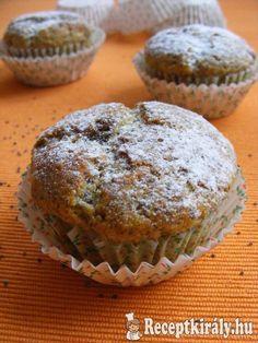 Mákos muffin 2 Poppy Cake, Muffin, Nutella, Breakfast, Pizza, Food, Morning Coffee, Eten, Cupcakes