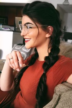 Braided pigtails are happening this spring... The last time I wore this do was probably in the 90's