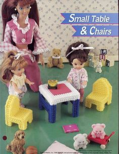 Small Table Chairs for Kelly Fash Doll Annie's New Plastic Canvas Pattern | eBay