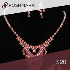 Red Evening Necklace & Earring Set New red evening necklace and earring set. See boutique for more fashions 5  #love #beauty #makeup #fashion #swimsuit #streetwear #style #trend #boho #matte #201 #designer #crop #mid #wedding #marriage #women #plussize #plus #petite #small #medium #large #unicorn #brush #gold #silver #human #hair #dress #shirt #short #top #sunglasses #watches #jewelry #choker #multilayer #bohemian #rings #leggings #necklace #bracelet #crop #mini #sweater #animal #print Rima…