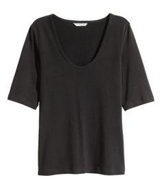 Jerseyshirt   Schwarz   Damen   H&M AT