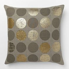 Metallic Circles Pillow Cover #westelm