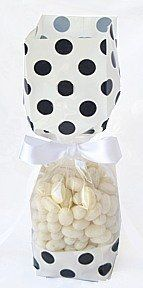 White with Black Polka Dots Tall Cellophane Goodie Bag (2in. W x 9 1/2in. H x 1 7/8in. Deep) - pack of 25 -- You can get more details by clicking on the image.