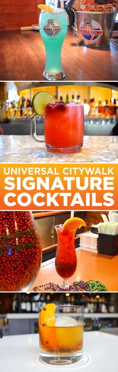 Check out this list of must-try specialty cocktails at five of Universal CityWalk's hottest restaurants. Universal City Walk Orlando, Orlando City, Orlando Travel, Orlando Vacation, Orlando Resorts, Universal Studios Restaurants, Orlando Restaurants, Disney Universal Studios, Island Of Adventure Orlando