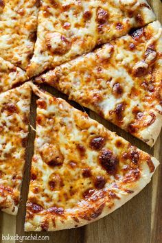 Easy homemade classic three cheese pizza recipe from @Rachel {Baked by Rachel}