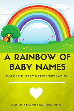 Rainbow Baby Names for Boys and Girls | Rainbow baby names ...