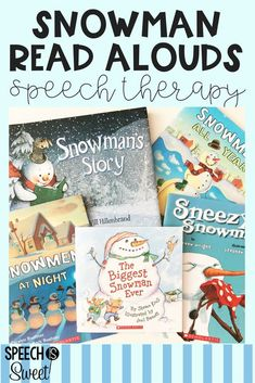 Snowman Books for Speech Therapy! - Speech is Sweet Preschool Speech Therapy, Preschool Books, Speech Pathology, Speech Language Pathology, Speech And Language, Christmas Books, Christmas Themes, Christmas Crafts, Language Activities