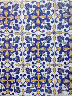 #azulejos #blue #yellow #portugal