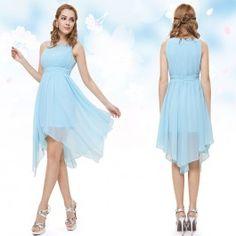 d0aecb7beb8 Bledě modré koktejlové šaty antické Společenské Šaty