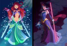 jedi/sith Ariel and Show white