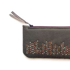 Wool Felt Coin Purse or iPhone Cozy // Autumn by LoftFullOfGoodies, $24.00