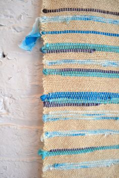 Niko: wall hanging- woven cotton & silk scraps