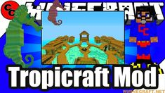 Tropicraft Mod 1.12.2-1.10.2-1.7.10 – Tropical paradise mod for Minecraf... #Minecraft #Games #Gaming #Programming #Review #Tutorial Minecraft Funny Moments, Funny Minecraft Videos, Minecraft Games, Minecraft Mods, Minecraft Challenges, Minecraft Survival, Best Mods, Tropical Paradise, Building Ideas