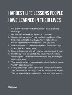 Hardest life lessons people have learned