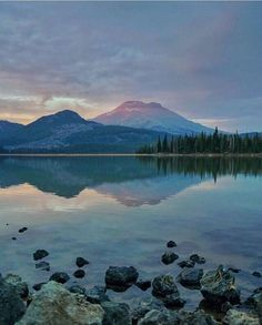 Evening at Sparks Lake in Central Oregon---------------------  @ whitwhitehouse