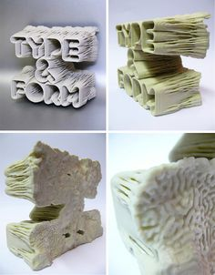 Type & Form 3D Sculpture by PostSpectacular