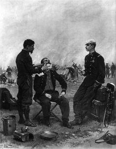'The Camp Barber' by Édouard Detaille (Jean-Baptiste Édouard Detaille) (1848-1912, France)