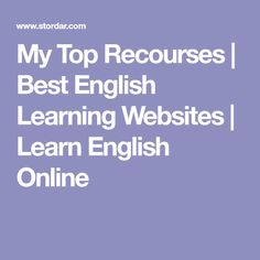 This is my top picks of best English learning websites and online resources I use every day. Learn my top recommended resources for learning English and online learning. Learning English Online, Learning Websites, Learn English, Computers, Top, Spinning Top, Learning English, Crop Shirt, Blouses